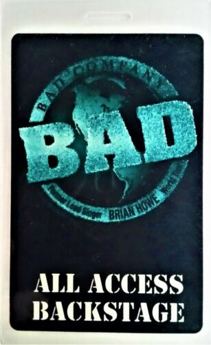 *** BAD COMPANY *** 1998 - 1999 ALL ACCESS LAMINATED BACKSTAGE PASS - EXCELLENT