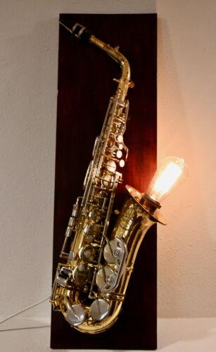 Saxophone Lamp, Edison Bulb
