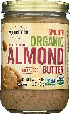 - Organic Almond Butter - Lightly Toasted - Unsalted. (1 - 16 OZ)