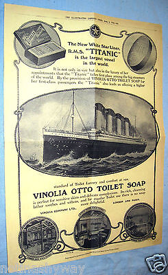 Vintage RMS TITANIC Advert Antique Old Flyer Leaflet Poster Perfume Ladies Retro