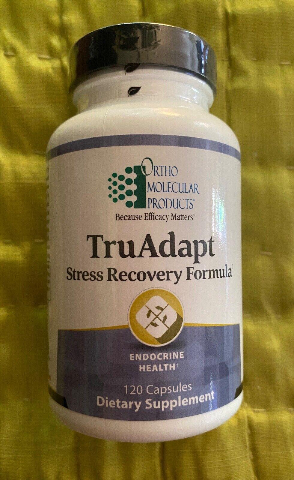 Ortho Molecular TruAdapt Stress Recovery Formula 120 Capsules