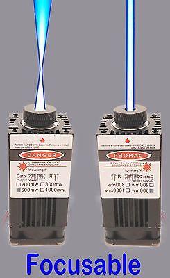 Focusable Blue 1w 450nm Laser Module Wcooling Fanttl Modualtion 1pcspak