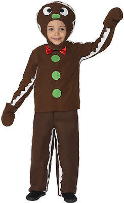 Boys Girls Childrens Gingerbread Man Xmas Christmas Fancy Dress Costume Outfit - Gingerbread Boy Costume