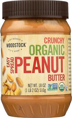 Woodstock Farms-Organic Easy Spread Peanut Butter - Crunchy, 1 ( 18 OZ -