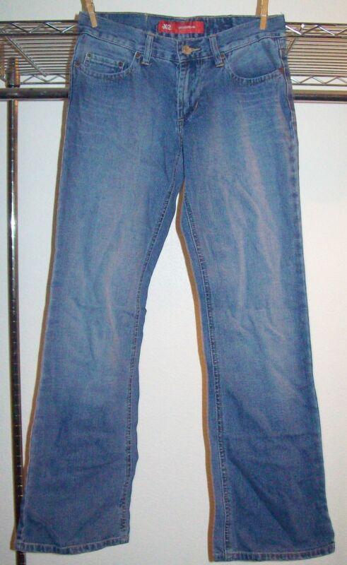 NWOT Sz 2R EXPRESS X2 Denim Laboratory Medium  Wash Denim Flare Leg Jeans