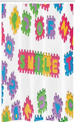 ABC Puzzle Cortina de Ducha Texto sonrisa Arte Escrito