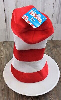AUTHENTIC Cat in Hat Dr. Seuss Striped Hat Halloween Adult Costume Accessory NEW