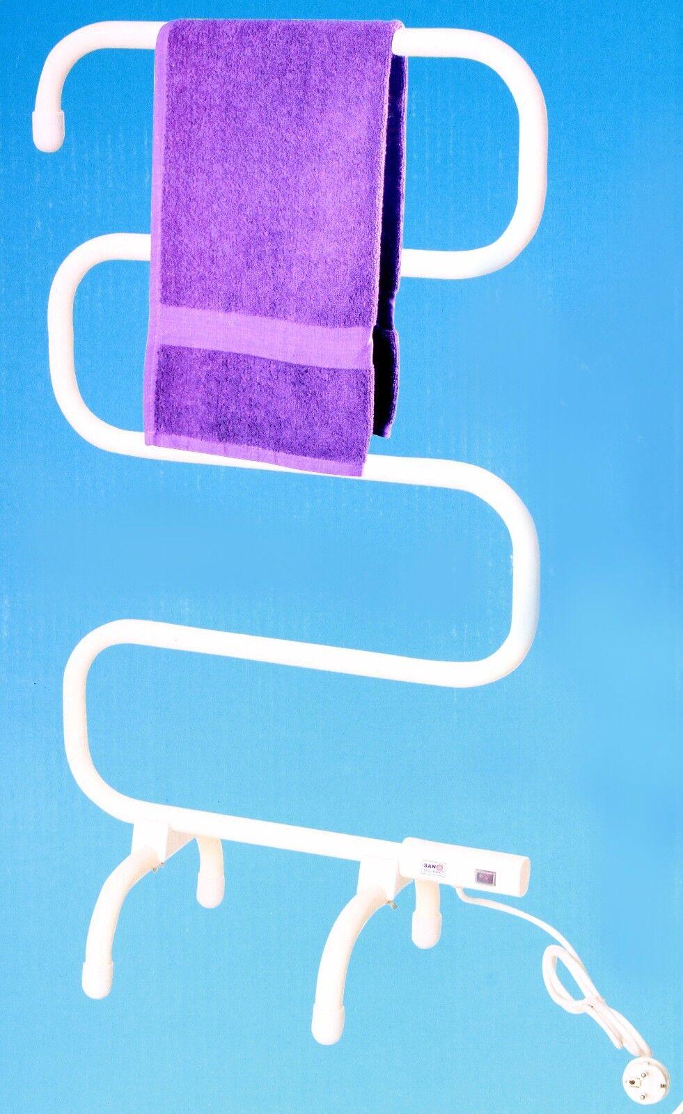 Handtuchwärmer Elektrisch Handtuchhalter Freistehend Handtuchtrockner 100W