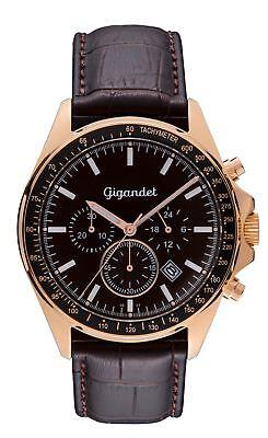 Gigandet Herrenuhr VOLANTE Chronograph Rotgold Miyota Uhrwerk G3-004 NEU