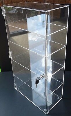 Acrylic Counter Top Display Case 12x 9.5 X19locking Cabinet Showcase Boxes