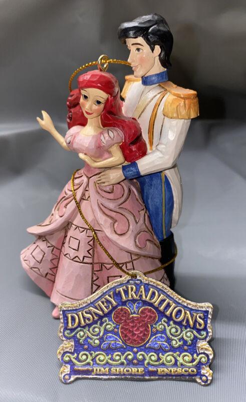 Jim Shore Walt Disney THE LITTLE MERMAID Ariel & Eric Christmas Ornament