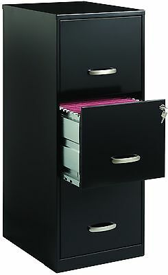 Office Designs 3 Drawer Black Steel File Filing Cabinet Brand New