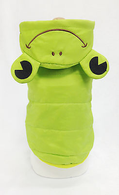 Pet Dog & Cat Clothes, Lovely Frog Winter Hooded Jacket, Size M ,Costume