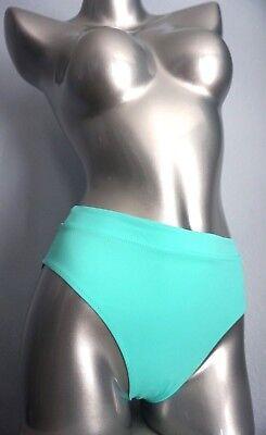 NWT Victorias Secret High Waist Cheeky Bikini Bottom Aqua Seafoam Glow XS S M -