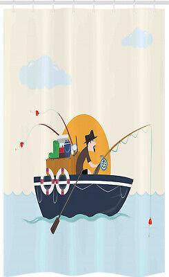 Barco de la vendimia Cortina de Ducha Fisher hombre Hobby