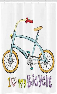 Dibujos animados Cortina de Ducha Las palabras de bicicletas encantan los niños
