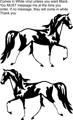 """(2)  Horse Spotted Saddle Equestrian Trailer Truck Decal 7"""" READ DESCRIPTION"""