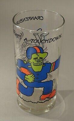 "1977 BURGER CHEF CRANKENBURGER 6 1/4"" TALL CHARACTER GLASS NICE!"