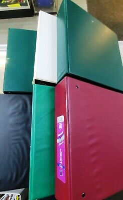 Lot Of 6- 2-inch 3-ring Binders-various Colors - Fc-51-t-g-4