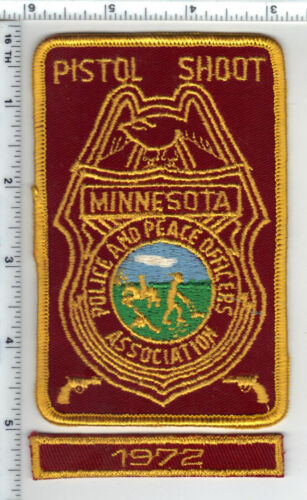 Minnesota Police & Peace Officers Assn Pistol Shoot Patch with 1972 Rocker Panel