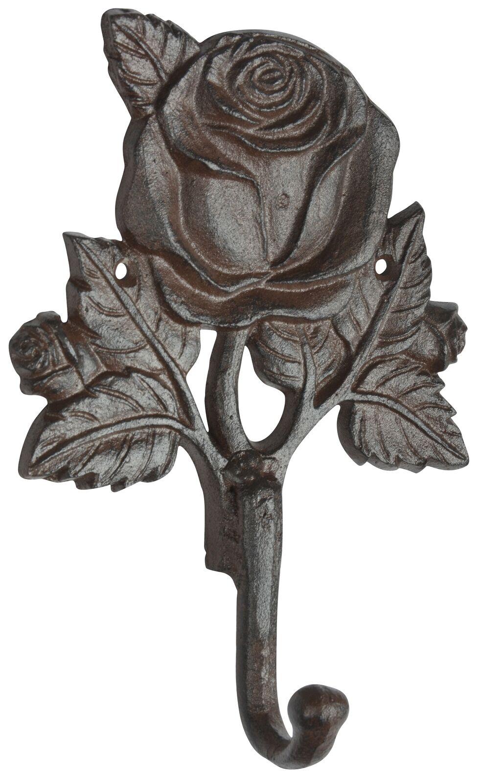 Image Esschert Design crochet rose de vestiaire fonte marron maison campagne ancien