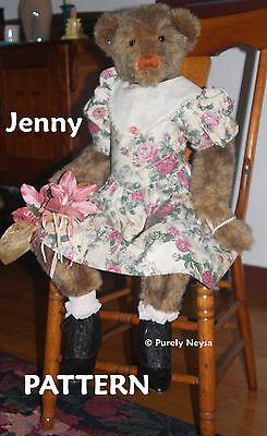 "Mohair or Plush ""Jenny"" Teddy Bear PATTERN by Neysa A. Phillippi of Purely Neysa"