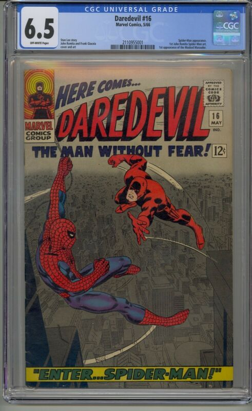 DAREDEVIL #16 CGC 6.5 1ST JOHN ROMITA SPIDER-MAN