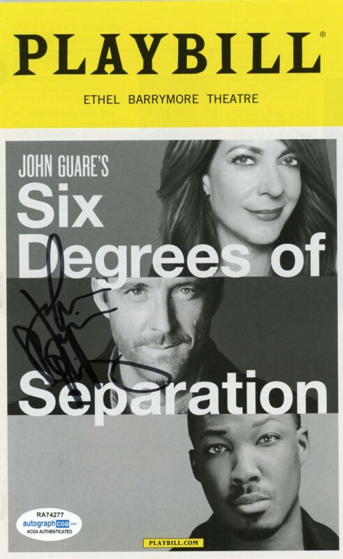 "John Benjamin Hickey ""Six Degrees of Separation"" SIGNED Broadway Playbill ACOA"