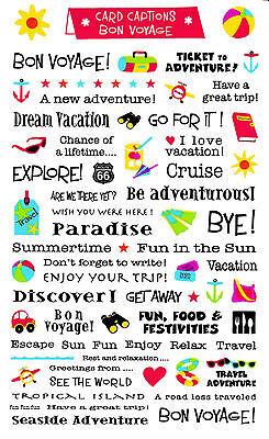 Mrs. Grossman's Giant Stickers - Card Captions Bon Voyage - Vacation - 2 (Bon Voyage Stickers)