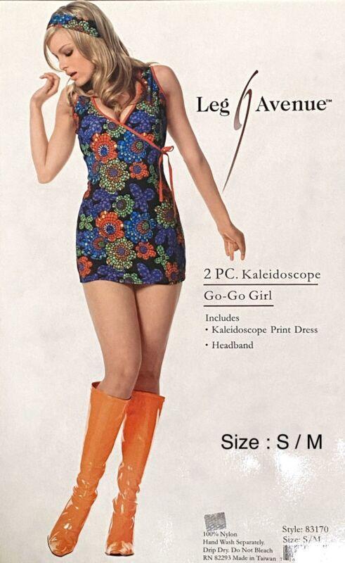 Super Cute Sexy LEG AVENUE 2PC Kaleidoscope GO-GO GIRL Halloween Costumes Sz S/M