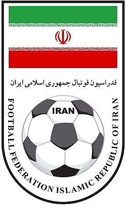 (Shaped Vinyl Sticker 10x6cm football soccer Iran World Cup laptop car Russia )