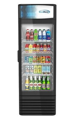 1 Glass Door Commercial Refrigerator Merchandiser Beverage Cooler 9 Cu. Ft.