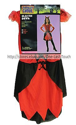 Halloween Costumes For 3 Females (**TOTALLY GHOUL 3pc Costume CLASSIC DEVIL For Girls HALLOWEEN New! *YOU)