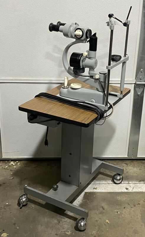 CARL ZEISS F 125 Slit Lamp Package Hydraulic Wheeled Cart