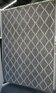 New Bayliss Ivy Graphite-Fog Wool Viscose Hand Woven Rugs