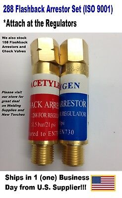 Acetylene Oxygen Flashback Arrestor 288 Set Torch Welding Iso 9001 Free Ship