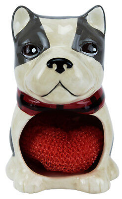 54199 Mercantile Dog Scrubby Holder Kitchen Cleaning Dishes Pots Pan French Bull