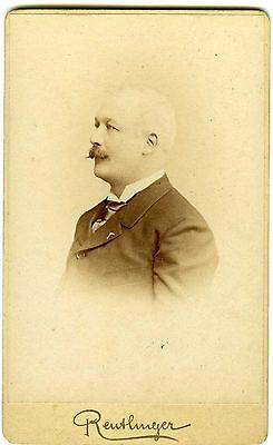 REUTLINGER Paris rené Dubois pose de profil circa 1900 Photo CDV