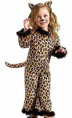 Pretty Leopard Costume Girls Kids Child Infant Toddler Kitty Cat - 24M-2T, 3T-4T