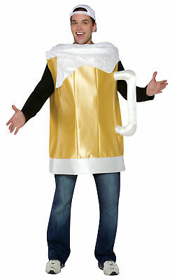 Frosty Beer Mug Glass Adult Costume One Piece Halloween Dress Up Rasta Imposta (Beer Glass Costume)
