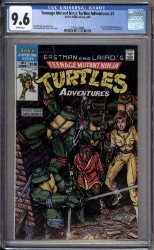 Teenage Mutant Ninja Turtles Adventures 1 CGC 9.6 NM+ Archie Publications 1988 A
