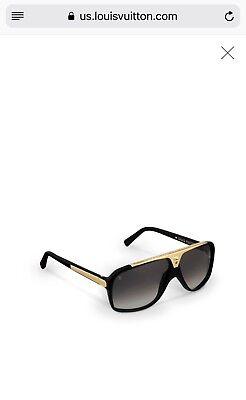 Louis Vuitton LV Evidence Black Gold Aviator Sunglasses