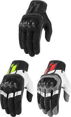 Street Riding Gloves - Icon Overlord Gloves - Touchscreen Motorcycle Street Riding Textile Mens Summer