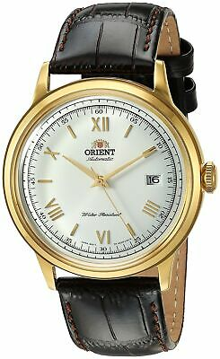 Orient Mens Gen2 Bambino V2 Stainless Steel & Leather Automatic Watch FAC00007W0