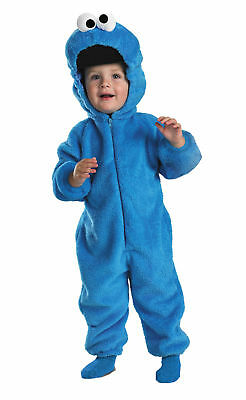 Cookie Monster Deluxe Child Boys Costume Double Sided Plush Jumpsuit Disguise (Cookie Monster Costume Kids)