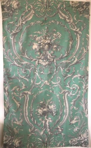 Beautiful 19th C. French Neo-Classic Cotton Toile Printed Fabric  (3023 )