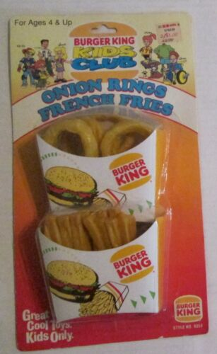 Burger King Kids Club Onion Rings & French Fries Play Food Set 1995 NEW IN PACK