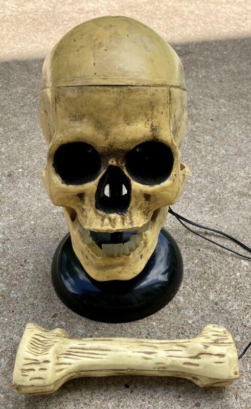 Halloween Talking Skeleton Repeating Mimic Electric Light Up Bone Microphone
