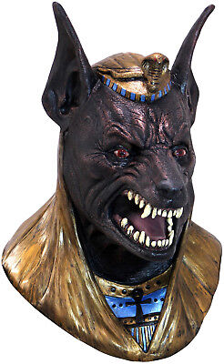 Anubis Latex Mask God of the Dead Egyptian Full Over Head Adult Mask (God Over Halloween)