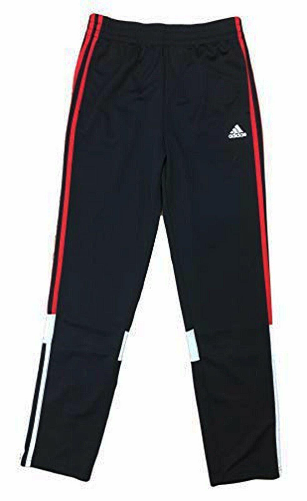 14//16 Black 9869-1 Adidas Big Boys Logo-Print Crew Neck T-Shirt Size Large